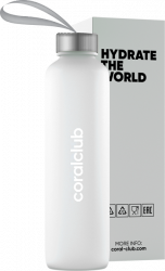 "Szklana butelka ""Hydrate the World"",  500 ml"